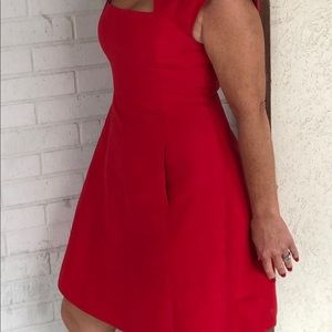 Halston heritage scarlet cocktail dress